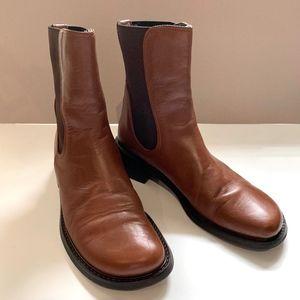 Donald J Pliner Cognac Leather Ankle Boot